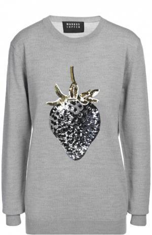 Вязаный свитер Markus Lupfer. Цвет: светло-серый