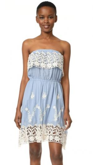 Платье без бретелек Acapulco Christophe Sauvat Collection. Цвет: голубой