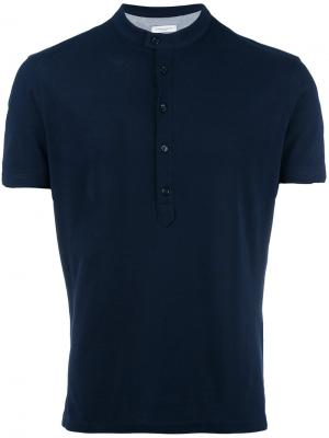Henley T-shirt Paolo Pecora. Цвет: синий