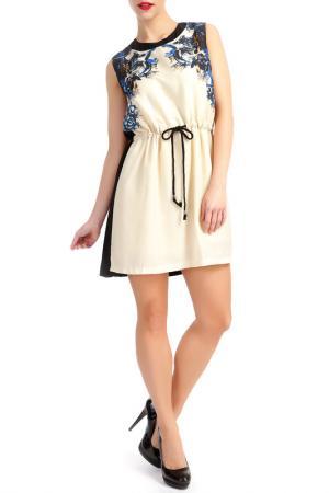 Платье LESARA. Цвет: бежевый