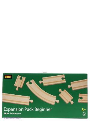 BRIO Ж/д полотно, базовые элементы, длина дет.от 5,4 до 21,6см, 11 дет.в наб.. Цвет: прозрачный