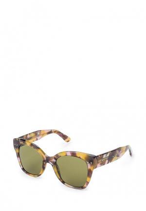 Очки солнцезащитные Bottega Veneta. Цвет: разноцветный
