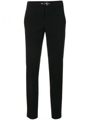 Классические брюки с контрастной клипсой Fay. Цвет: чёрный