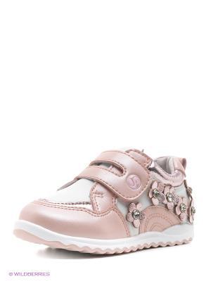 Кроссовки Flamingo. Цвет: розовый, белый