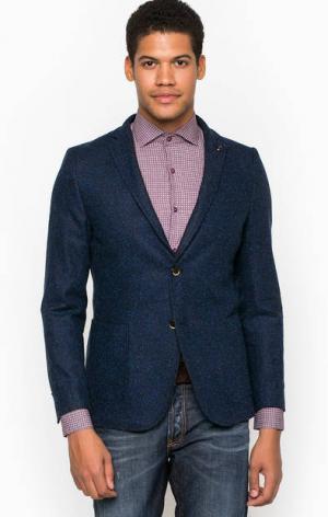 Синий пиджак с запонкой для лацкана Liu Jo Uomo. Цвет: синий