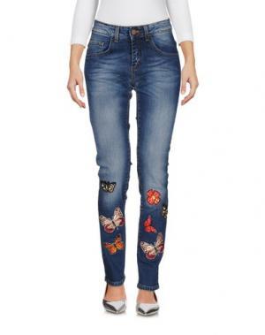 Джинсовые брюки TENAX. Цвет: синий