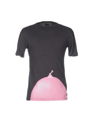 Футболка MALPH. Цвет: свинцово-серый