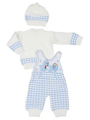 Комплект одежды M-BABY. Цвет: белый, голубой