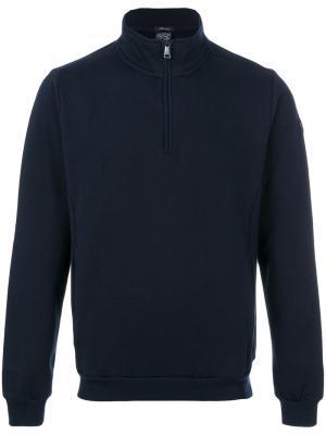 Пуловер с воротником на молнии Paul & Shark. Цвет: синий
