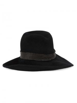Шляпа-федора Kijima Takayuki. Цвет: чёрный