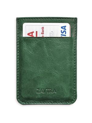 Минималистичный кошелек ZAVTRA. Цвет: зеленый