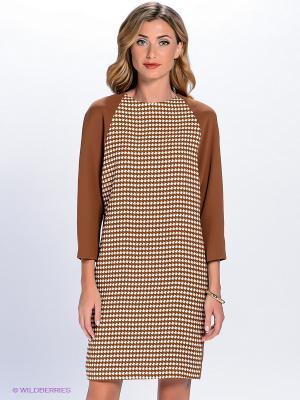 Платье Charuel. Цвет: коричневый, белый