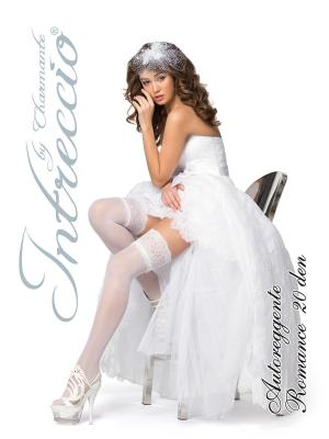 Чулки женские свадьба Charmante. Цвет: белый