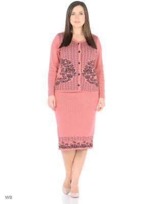 Костюм (кардиган+юбка), модель Ира Dorothy's Нome. Цвет: черный, коралловый