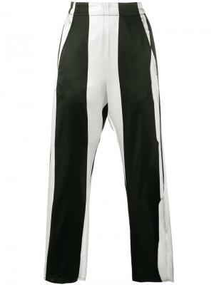 Укороченные брюки в полоску Ann Demeulemeester. Цвет: чёрный