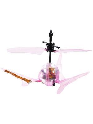 Вертолет Супер Светлячок на инфракрасном управлении со световыми эффектами розовый ВластелиНебес. Цвет: розовый