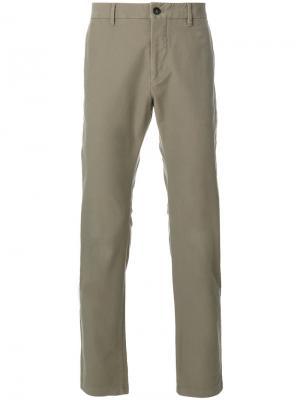 Прямые брюки чинос Closed. Цвет: зелёный
