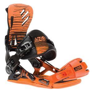 Крепления для сноуборда  Freedom Bind Orange GNU. Цвет: черный,оранжевый