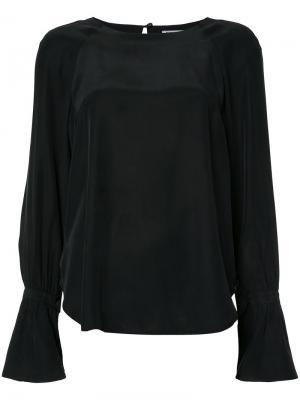 Блузка с расклешенными рукавами Frame Denim. Цвет: чёрный