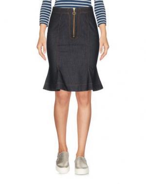 Джинсовая юбка NINEMINUTES. Цвет: синий