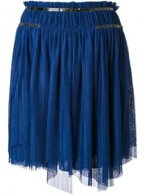 Плиссированная юбка Jay Ahr. Цвет: синий
