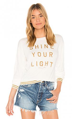 Топ с длинным рукавом shine your light Spiritual Gangster. Цвет: ivory