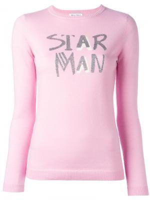 Джемпер Star Man Bella Freud. Цвет: розовый и фиолетовый