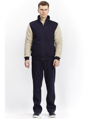 Спортивный костюм тройка RELAX MODE. Цвет: синий