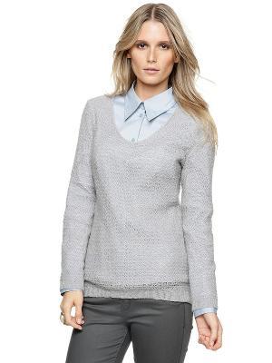 Пуловер S.OLIVER. Цвет: светло-серый