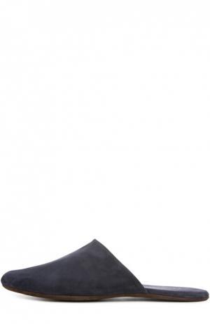 Домашние замшевые туфли Homers At Home. Цвет: индиго