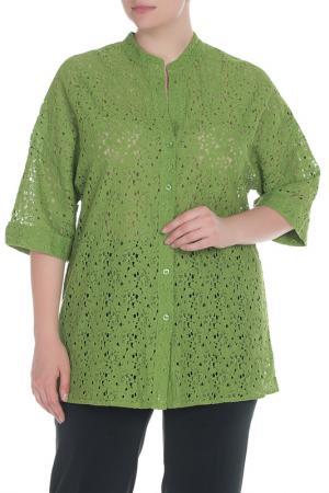 Рубашка-блузка Krizia. Цвет: салатовый