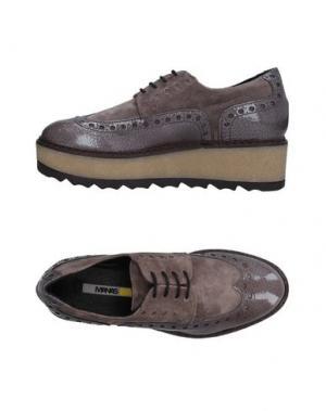 Обувь на шнурках MANAS. Цвет: серый