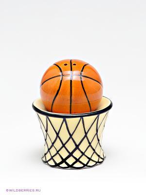 Набор соль-перец Баскетбол Pavone. Цвет: оранжевый (осн.)