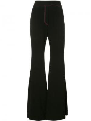 Расклешенные брюки Ellery. Цвет: чёрный