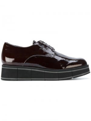 Wedged oxford shoes Paloma Barceló. Цвет: коричневый