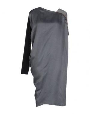 Короткое платье PAOLO ERRICO. Цвет: свинцово-серый