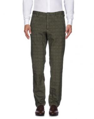 Повседневные брюки GANESH. Цвет: зеленый-милитари