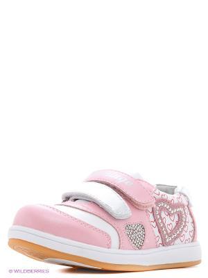 Кеды Flamingo. Цвет: розовый, белый, серебристый
