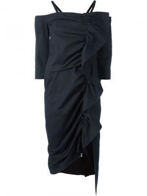 Платье с обрками Isa Arfen. Цвет: чёрный