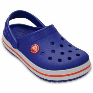 Сабо Crocband Clog Kids CROCS. Цвет: синий/белый/розовый