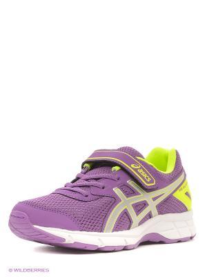 Спортивная обувь PRE GALAXY 9 PS ASICS. Цвет: сиреневый, желтый, серый
