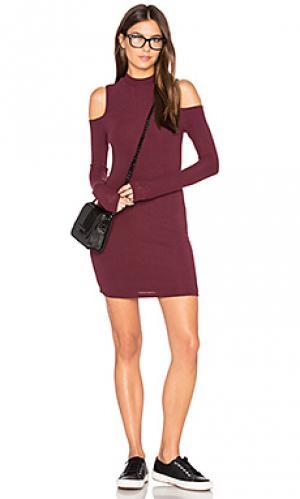 Мини платье с открытыми плечами BLQ BASIQ. Цвет: красный