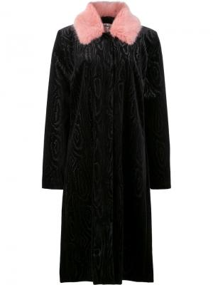 Пальто Marie Shrimps. Цвет: чёрный