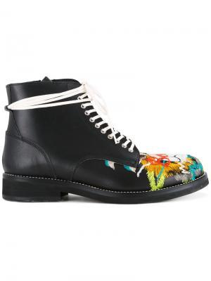 Ботинки с вышивкой черепа Doublet. Цвет: чёрный