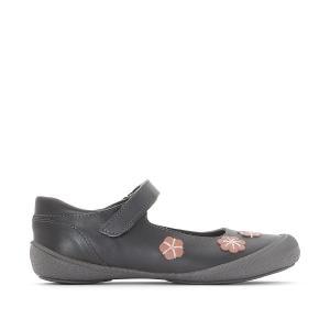 Балетки mary-jane с цветами 26-35 La Redoute Collections. Цвет: розовый,серый