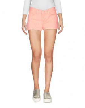 Джинсовые шорты J BRAND. Цвет: лососево-розовый