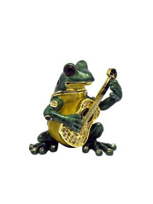 Шкатулка Лягушка гитарист Yen Ten. Цвет: зеленый