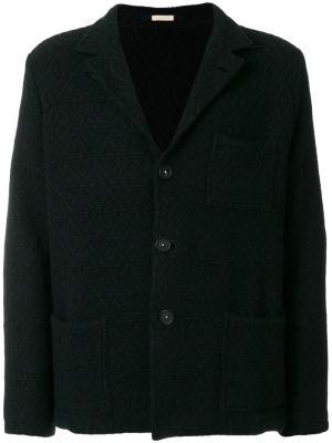 Однобортное пальто Massimo Alba. Цвет: синий
