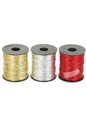 Шнур декоративный в наборе (24шт) VELD-CO. Цвет: серебристый, золотистый, красный