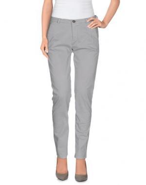Повседневные брюки NODO. Цвет: светло-серый
